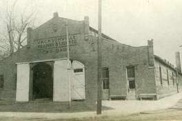 The old Jacksonville street railway car barn at 520 E. State St. that was demolished in December 2003.
