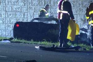 The victim, who had been driving a Chevrolet Corvette, smashed into the back of an SUV just before 3 a.m. on the access road of State Highway 151 between Pinn Road and Callaghan Road.