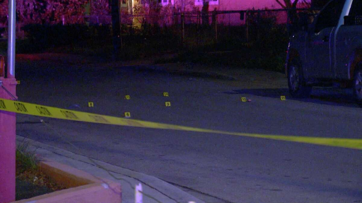 The victim and a woman were pulled over on the side of the road in the 800 block of Fitch Avenue when the suspect allegedly approached and shot at them.