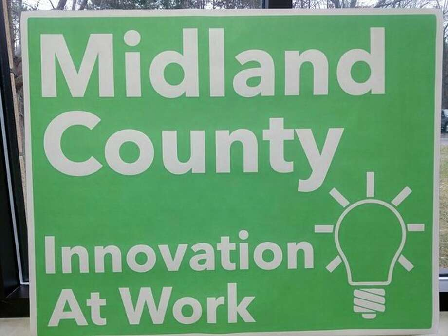 This is a draftof a possible new design for Midland County welcome signs that the Midland County Road Commission plans toerect in the coming months. (Submitted photo)