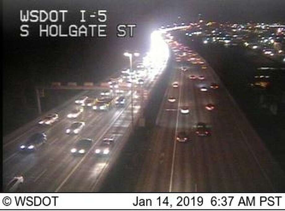 Heavier than usual traffic, as seen on Department of Transportation cameras. Photo: Courtesy WSDOT