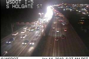 Heavier than usual traffic, as seen on Department of Transportation cameras.