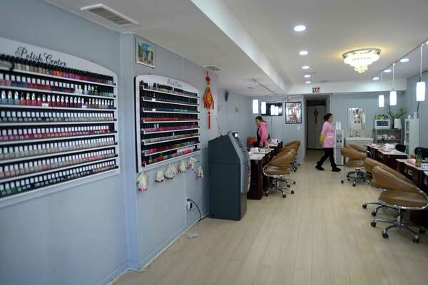Angel Nail Spa Inc. at 1 Danbury Road Thursday, January 3, 2019, in Wilton, Conn.