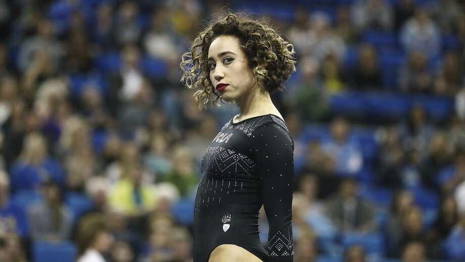 Katelyn Ohashi during an NCAA college gymnastics match, Friday, Jan. 4, 2019, in Los Angeles. (AP Photo/Ben Liebenberg) Photo: Ben Liebenberg, Associated Press
