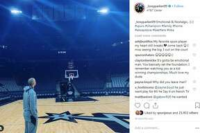 """Former Spur Tony Parker, one of the Big Three, will play against the San Antonio Spurs as a Charlotte Hornet for the first time Monday. He said on Instagram that he was """"emotional & nostalgic"""" being back at the AT&T Center before the game."""