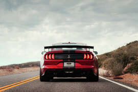 Ford introduce the 2020 Ford Shelby Mustang GT500 at the 2019 North American International Auto Show in Detroit.