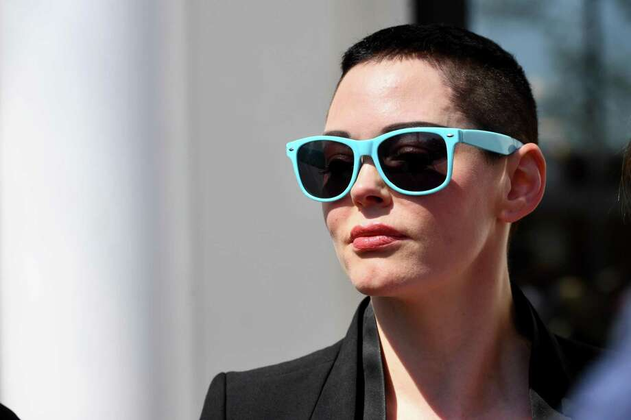 Rose McGowan leaves Loudoun County District Court in Leesburg, Va., after a preliminary hearing in May on possession of a controlled substance after cocaine. Photo: Washington Post Photo By Katherine Frey / The Washington Post