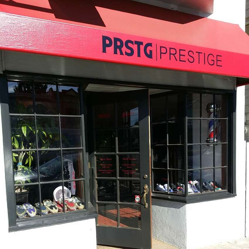 PRSTG ALAMEDA The Warriors are well-known sneakerheads - several have their own branded shoes - and one of the Bay Area's hole-in-the-wall shops is a go-to. Draymond Green told TimeOut he loves shopping at PRSTG, a shop opened by local sneaker collectors. PRSTG focuses on collectible and hard-to-find shoes.
