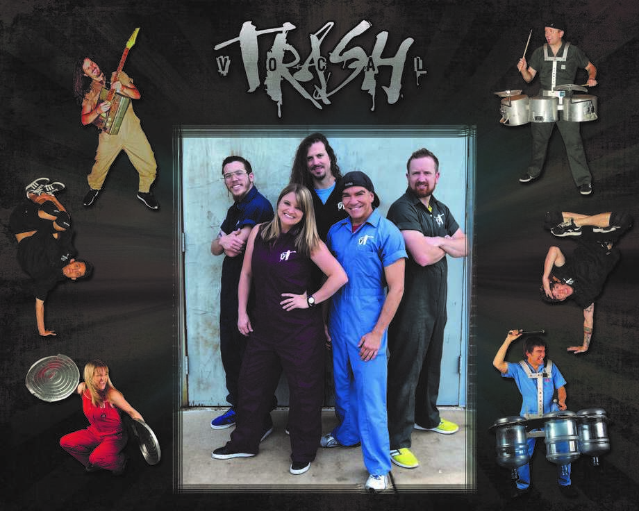 """""""Vocal Trash,"""" a five-member troupe, set to entertain, educate and inspire audience to reduce, reuse and recycle during Friday performance in Plainview. Photo: Courtesy Photo/Plainview Community Concerts"""
