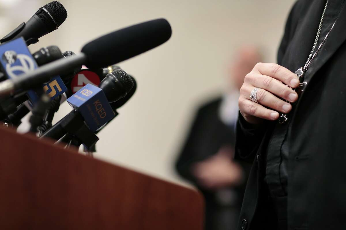 Bishop Robert F. Vasa of the Diocese of Santa Rosa speaks during a press conference to discuss the diocese's recent release of names of past priests and deacons accused of sexual abuse at the Diocesan Chancery in Santa Rosa, California, Monday, January 14, 2019. Ramin Rahimian/Special to The Chronicle