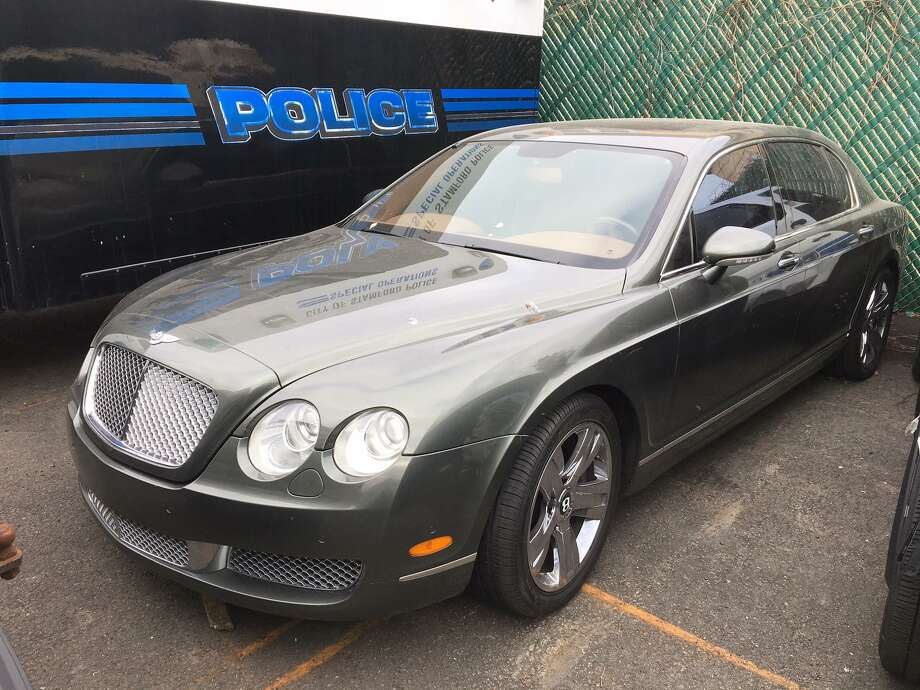 A 2007 Bentley Continental seized along with 72 pounds of marijuana and and 200 THC vape cartridges during a drug raid in North Stamford. Photo: Stamford Police / Contributed Photo