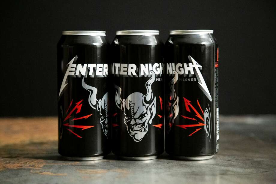 Metallica and Stone Brewing teamed up to brew a collaboration pilsner, Enter Night. Photo: Courtesy Stone Brewing