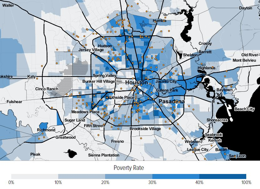 Maps show the truth about where families living on housing vouchers live in Houston