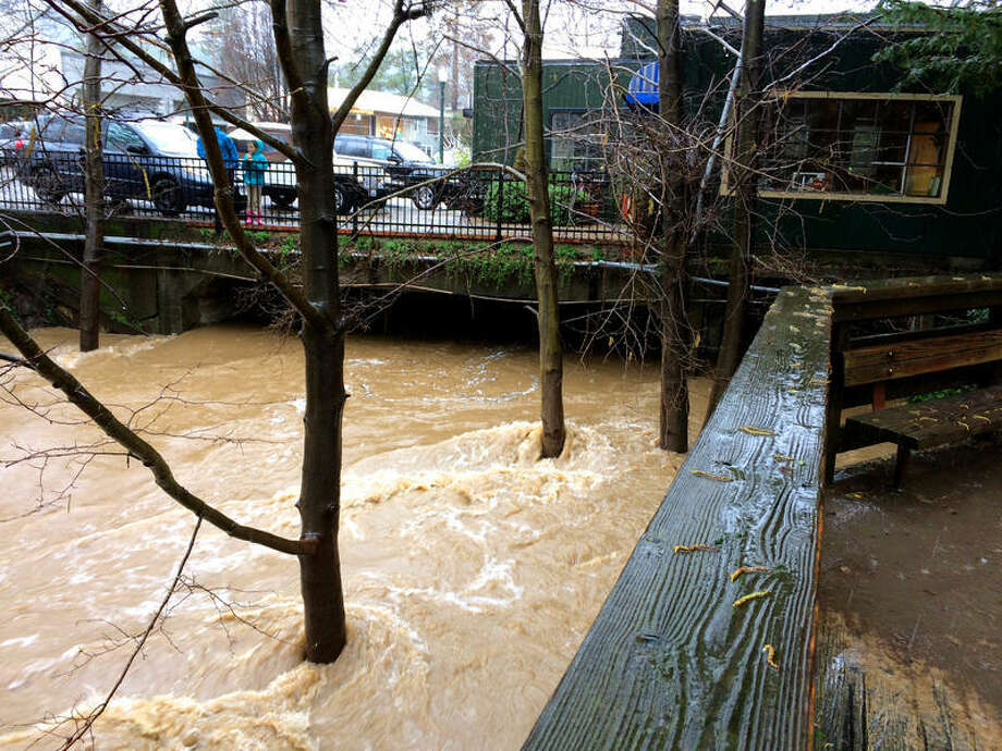 The removal of structures on downtown San Anselmo will likely reduce flood risk for neighbors. Photo: Marin County DPW