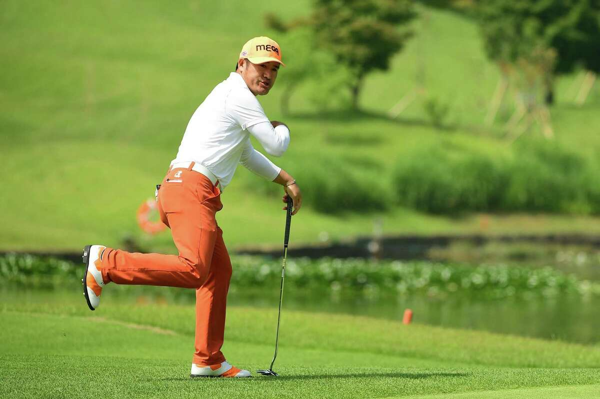 CHEONAN, SOUTH KOREA - JUNE 21: Choi Hosung of Korea pictured during round one of the Kolon Korea Open Golf Championship at Woo Jeong Hills Country Club on June 21, 2018 in Cheonan, South Korea. (Photo by Arep Kulal/Asian Tour/Asian Tour via Getty Images)