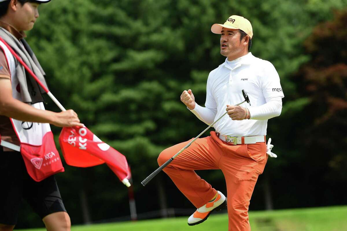 CHEONAN, SOUTH KOREA - JUNE 23: Choi Ho-sung of South Korea pictured during the third round of the Kolon Korea Open Golf Championship at Woo Jeong Hills Country Club on June 23, 2018 in Cheonan, South Korea. (Photo by Arep Kulal/Asian Tour/Asian Tour via Getty Images)