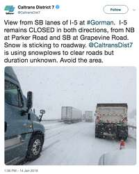 Rain and snow batter Southern California: Grapevine, PCH and