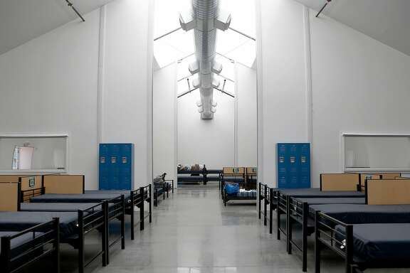 Division Street Navigation Center, a homeless shelter on Mission Street, opened on Monday, June 18, 2018 in San Francisco, Calif. Mayor London Breed is introducing legislation to speed up the production of new homeless shelters all over the city.
