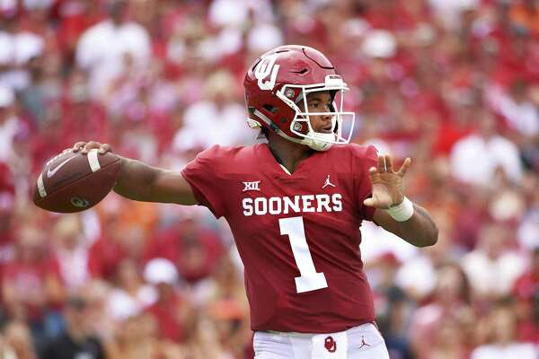 Kyler Murray, Oklahoma's Heisman-winning quarterback who declared for the NFL draft on Monday, is also weighing a baseball career with the Oakland A's, who drafted him ninth overall last June.