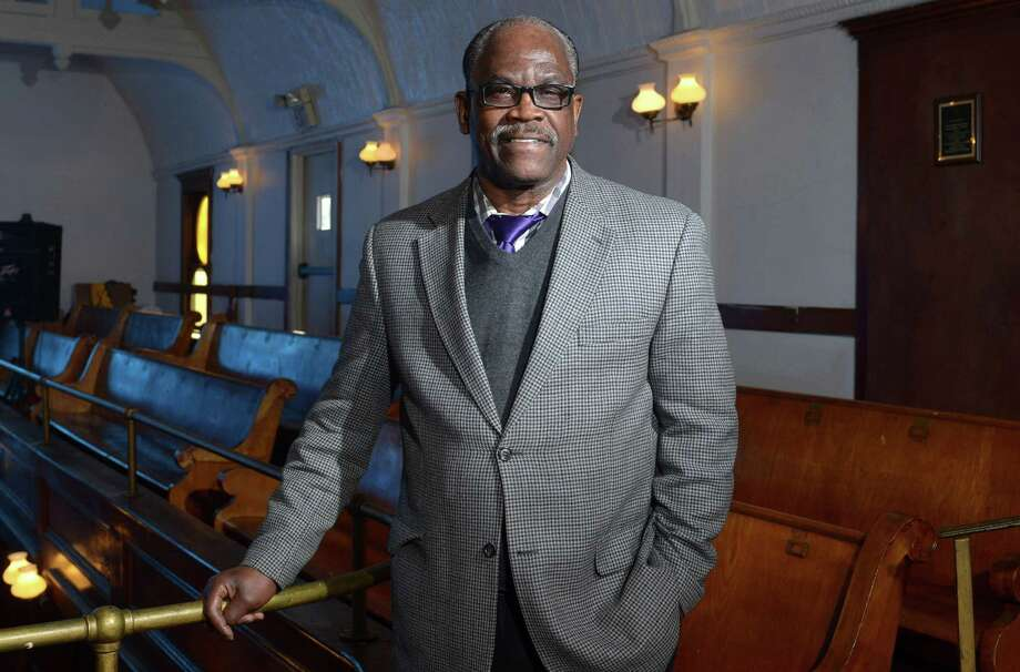 The Rev. Albert Ray Dancy at Canaan Baptist Church in Norwalk on Friday. Dancy will be honored at an Martin Luther King Jr. Day event Sunday for his accomplishments as former executive director of Serving All Vessels Equally, Inc. (S.A.V.E.) His colleagues have said he has dedicated his life work to serving disenfranchised and incarcerated youth in Norwalk. Photo: Erik Trautmann / Hearst Connecticut Media / Norwalk Hour