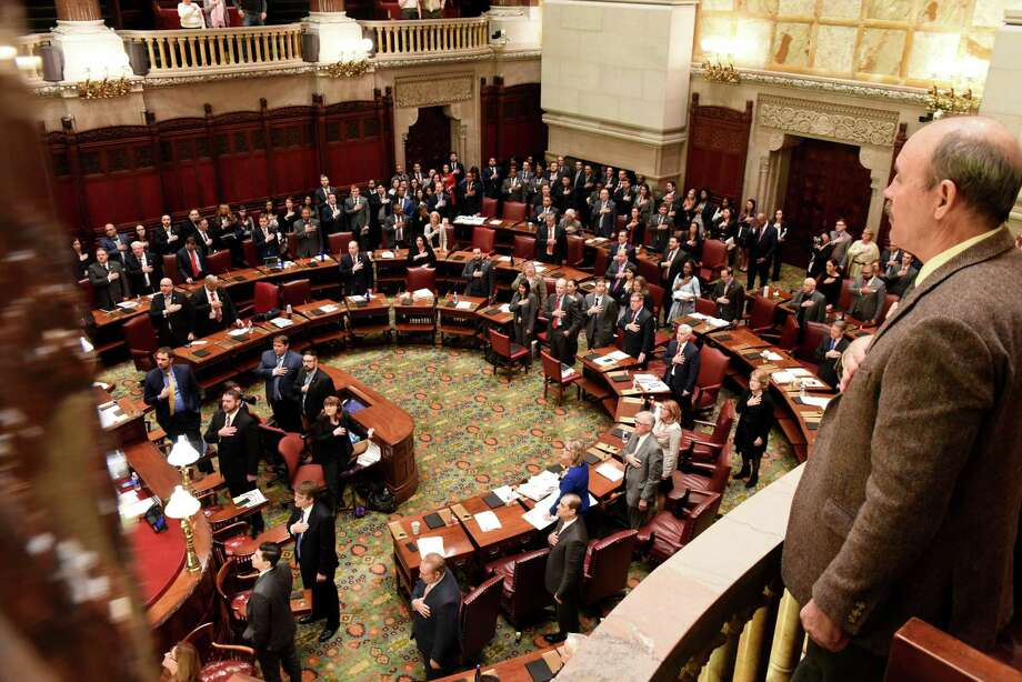 The New York Senate is called into session on Monday, Jan. 14, 2019, in the Senate Chamber at the Capitol in Albany, N.Y. (Will Waldron/Times Union) Photo: Will Waldron, Albany Times Union / 20045926A