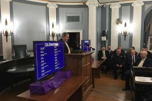 Schenectady Mayor Gary McCarthy delivers state of the city speech to packed house at City Hall on Monday, Jan. 14, 2019.