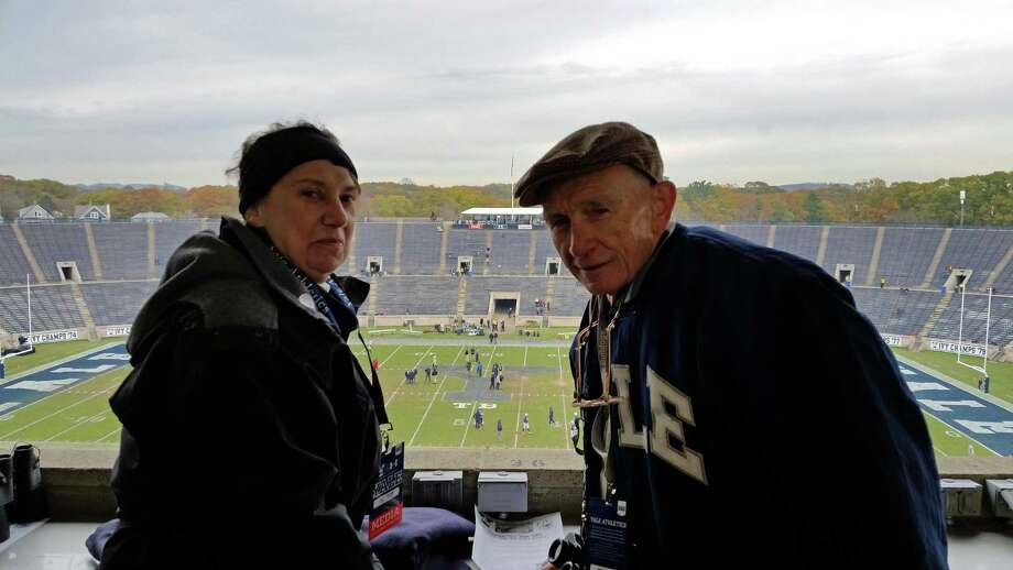 Bob Barton, with his wife, Judy, prior to Yale's football game with Army on Sept. 27, 2014, to commemorate the 100th anniversary of the opening of Yale Bowl. Photo: Sean Barker / Hearst Connecticut Media File