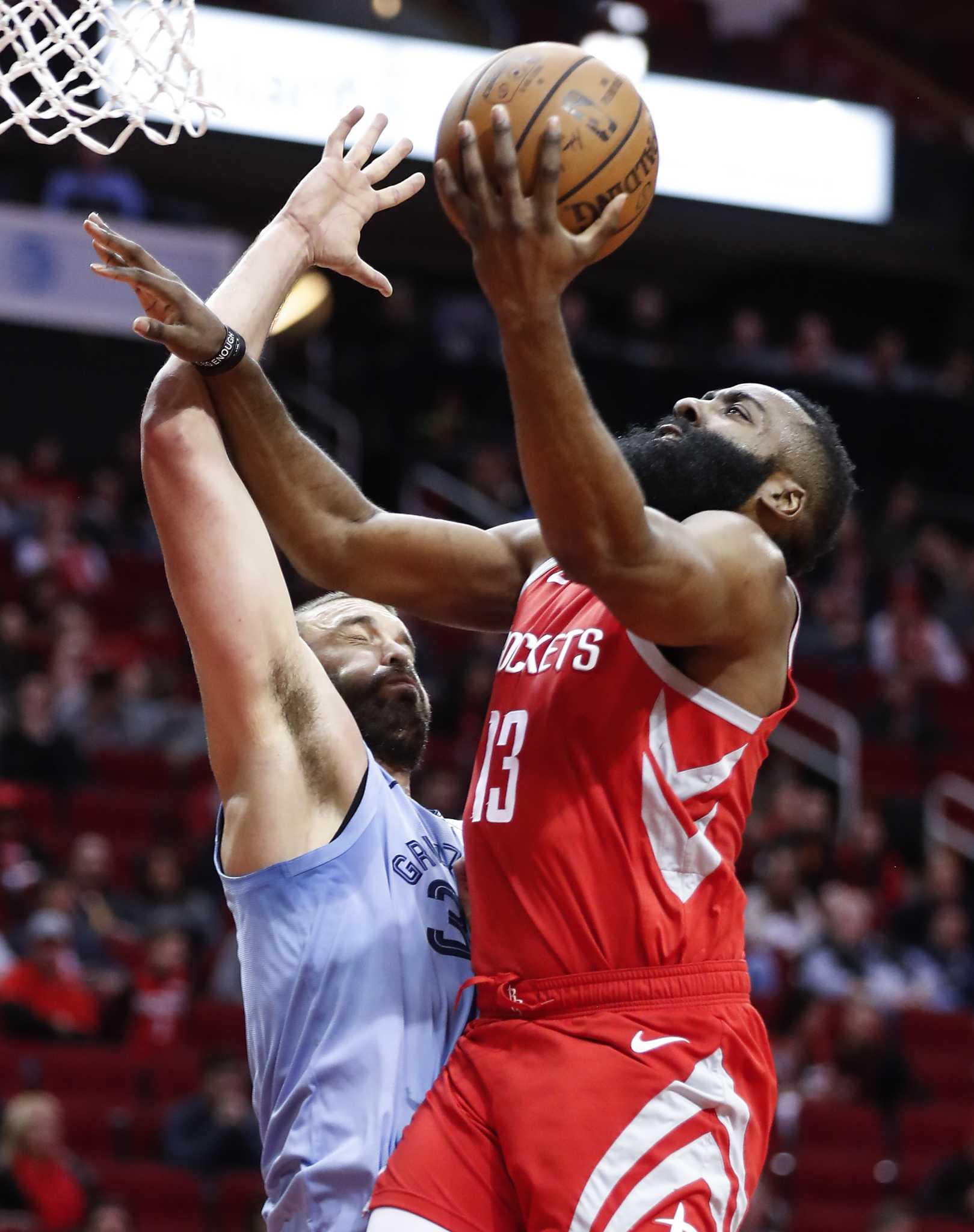 James Harden's season-high 57 drives Rockets past ...