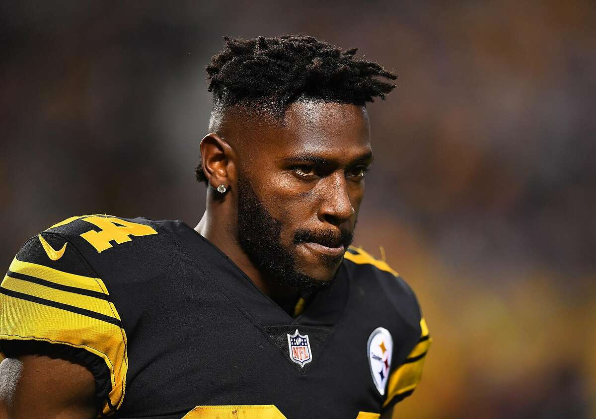 PITTSBURGH, PA - DECEMBER 16: Antonio Brown #84 of the Pittsburgh Steelers looks on during the game against the New England Patriots at Heinz Field on December 16, 2018 in Pittsburgh, Pennsylvania. ~~