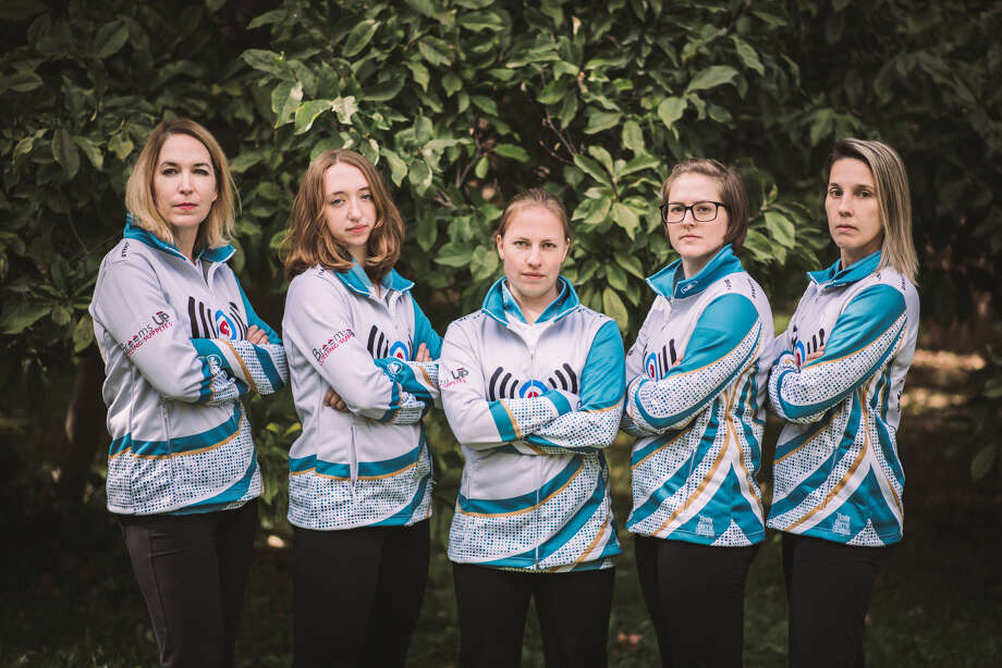 Maya Willertz of Midland will compete at the USA Curling Women's National Championships in Kalamazoo next month with Team Senneker, which is pictured above: (from left) Elizabeth Demers, Willertz, Stephanie Senneker, Rebecca Andrew and Emilia Juocys. (Photo provided) Photo: Photo Provided