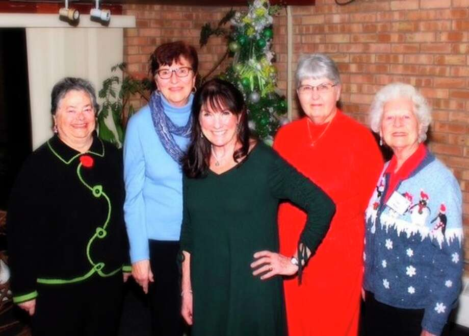 Past presidents and me the current president, from left,Nadine Kanuch, Donna Dolinski, Anne McGeegan-Woodard,Connie Lesh andInge Meyer. (Photo provided)