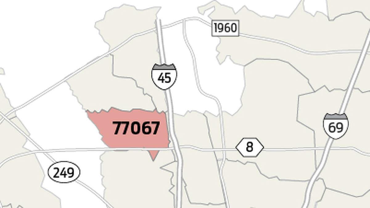 77067 Population estimate: 33,489 Homicide total since 2012: 37 Homicides per 10,000 people since 2012: 11