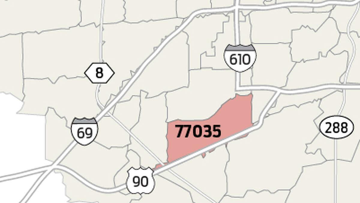 77035 Population estimate: 38,324 Homicide total since 2012: 35 Homicides per 10,000 people since 2012: 9.1