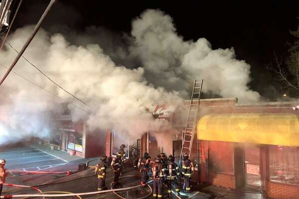 A three-alarm fire heavily damaged Marcello's Deli and Catering on Lake Avenue late Monday night. When firefighters arrived around 11:30 p.m. on Jan. 14, 2019, there was heavy smoke coming from a building near the corner of Lake Avenue and Hobson Street.