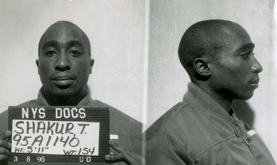New York State prison mug shot of Tupac Shakur (Photo provided by NYS Archives) Photo: New York State Archives
