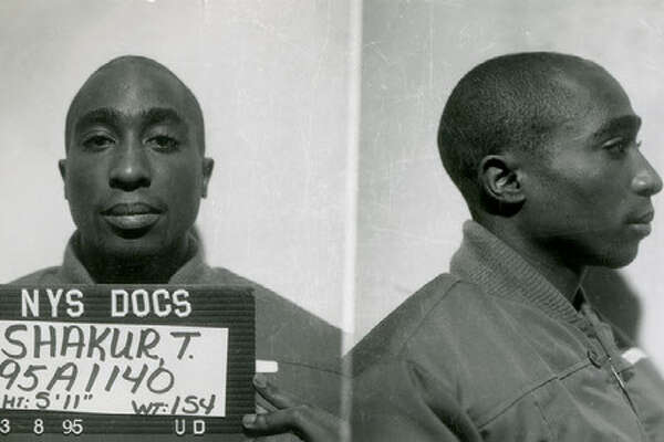 New York State prison mug shot of Tupac Shakur (Photo provided by NYS Archives)