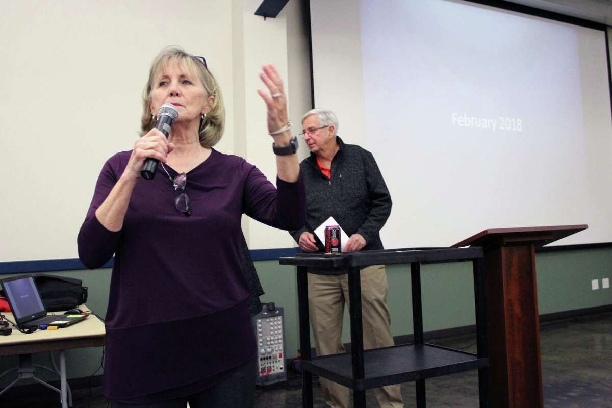 Kingwood resident Barbara Hilburn starts the community by discussing all the negative impacts the development of the Herons Kingwood Marina will have on the Kingwood community.