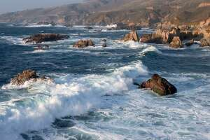 A Carmel teen is missing and feared dead after falling through a blowhole at Garrapata State Beach (above) near Carmel, Calif.