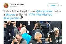 """@ymasters: """"It should be illegal to see @tonyparker not in a @spurs uniform! #TP9 #WeMissYou #GoSpursGo"""""""