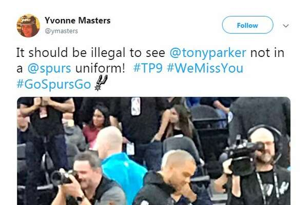 "@ymasters: ""It should be illegal to see @tonyparker not in a @spurs uniform! #TP9 #WeMissYou #GoSpursGo"""