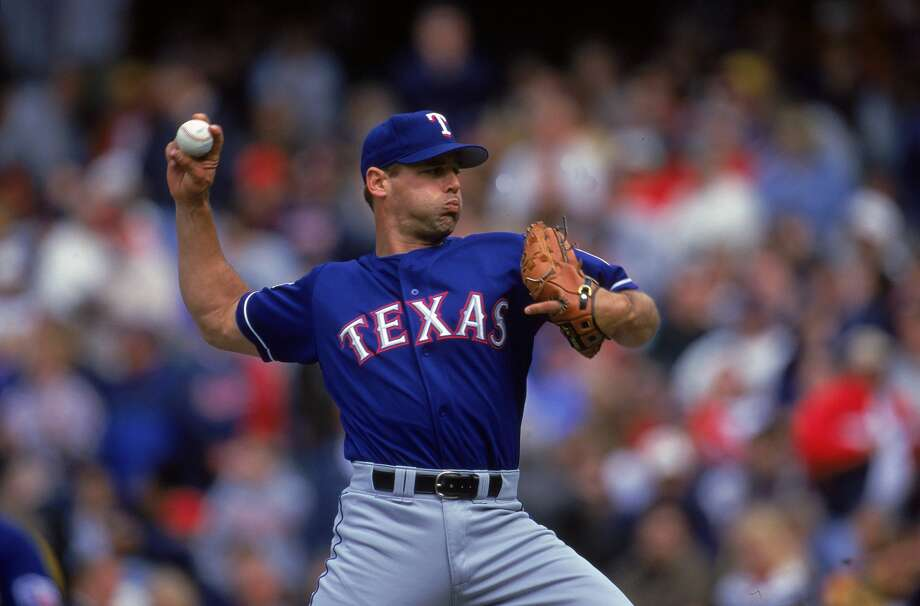 16 Apr 2000:  John Wetteland #35 of the Texas Rangers pitching during the game against the Cleveland Indians at Jacobs Field in Cleveland, Ohio. The Indians defeated the Rangers 2-1. Mandatory Credit: Harry How  /Allsport Photo: Harry How/Getty Images