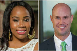 Southern Illinois University Edwardsville alumni Lissa Johnson-Lewis, left, and Ryan Perryman are among the rising leaders named to the St. Louis Business Journal's exclusive 40 Under 40 Class of 2019.