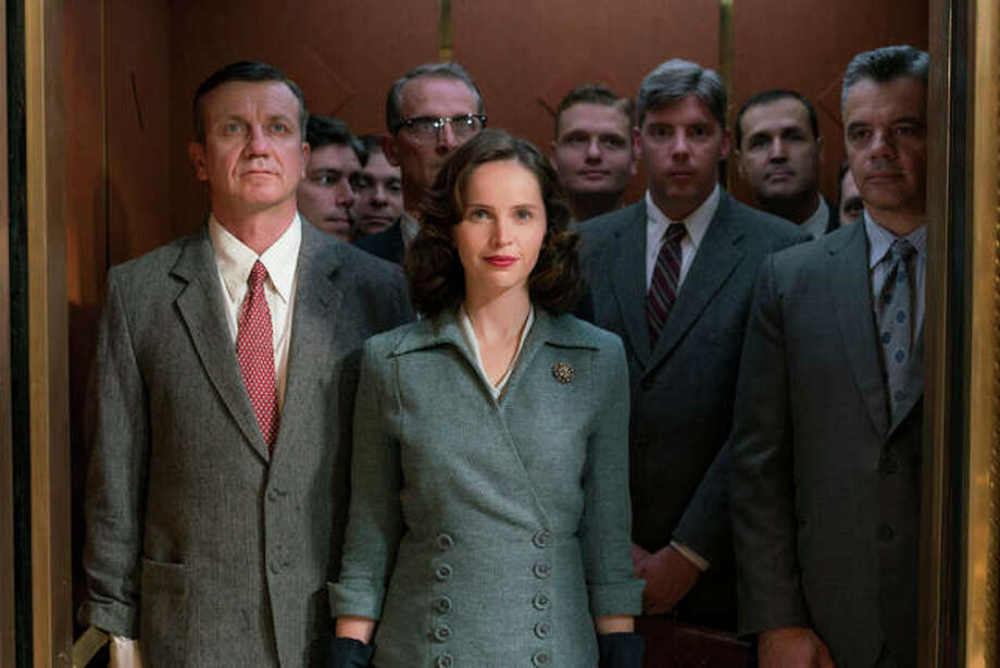 "In this image released by Focus Features, Felicity Jones portrays Ruth Bader Ginsburg in a scene from ""On the Basis of Sex."" Photo: Jonathan Wenk/Focus Features Via AP"