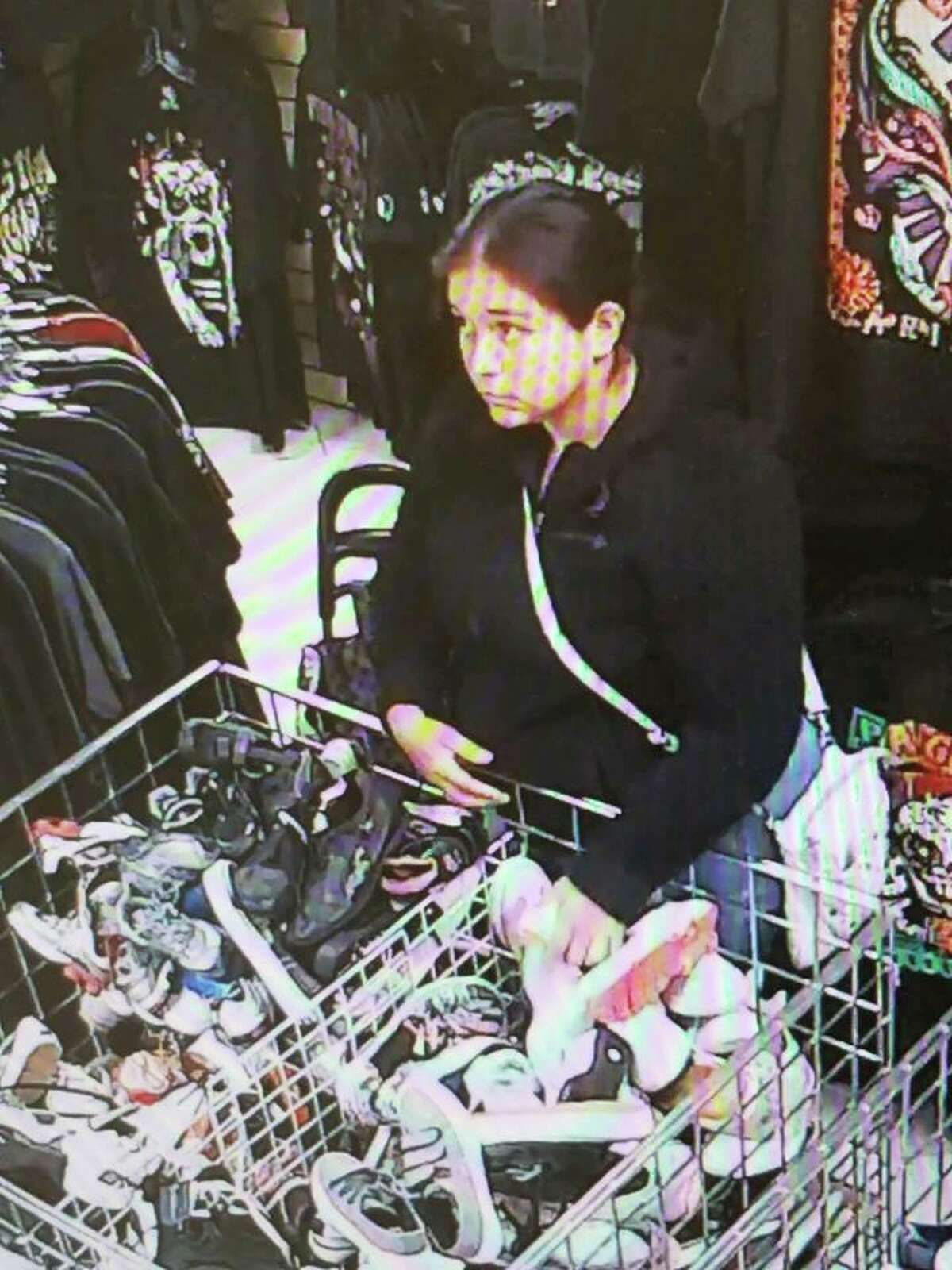 Authorities said this woman is wanted for theft of property that was reported on Wednesday.