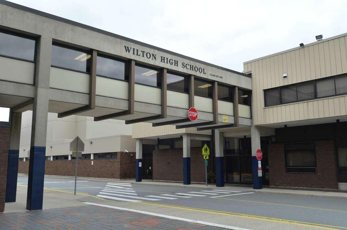 Wilton High School on Tuesday April 17, 2018 in Wilton Conn.