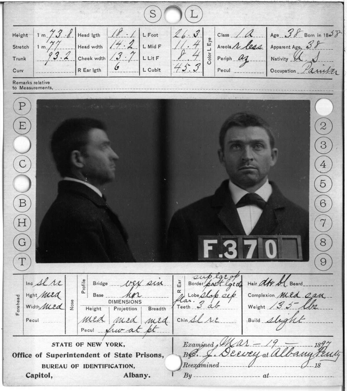 John J. Baker, Albany County Penitentiary. Crime: vagrant. Term:150 days.(Albany County Hall of Records)