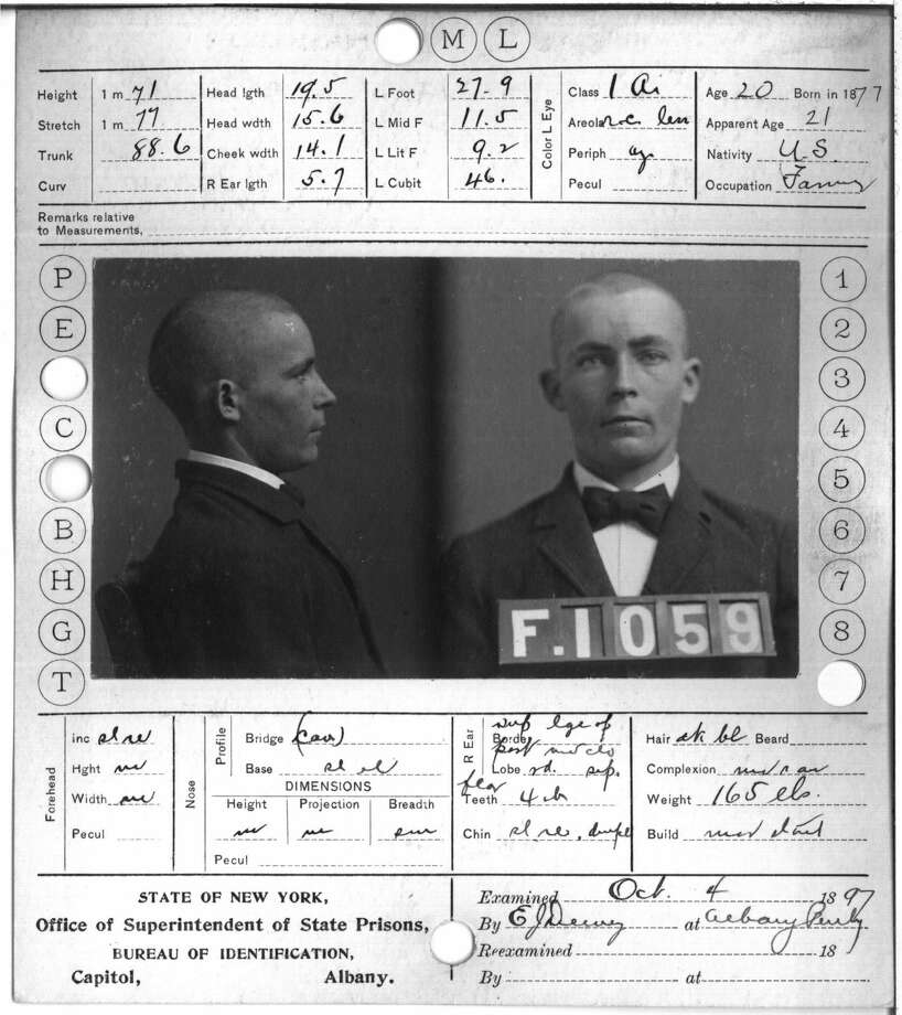 Ambrose Arnold, Albany County Penitentiary. Crime: perjury. Term: 1 year and 1 day. (Albany County Hall of Records) Photo: Albany County Hall Of Records