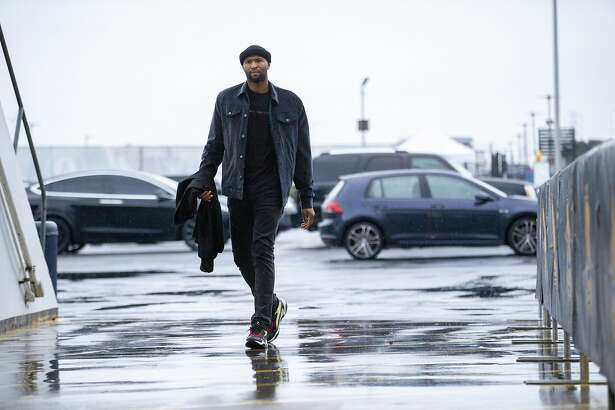 Golden State Warriors DeMarcus Cousins arrives to Oracle Arena before an NBA game against the Chicago Bulls on Friday, Jan. 11, 2019, in Oakland, Calif.