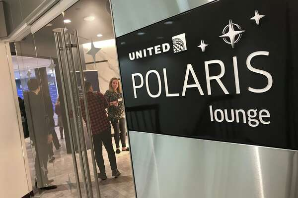 United's new Polaris Lounge is on the second floor of Terminal 7 at LAX, accessed by a staircase or elevator. Only business class passengers on long haul international flights are allowed in.