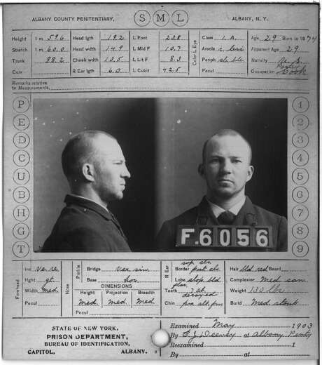 George F. Donahoe, Albany County Penitentiary. Crime: keeping disorderly house. Term: 6 months or $250. (Albany County Hall of Records) Photo: Albany County Hall Of Records